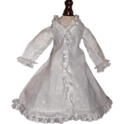 Lovely White Organdy French Fashion Doll Dress