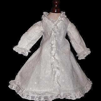 Lovely White Organdy French Fashion Doll Dress