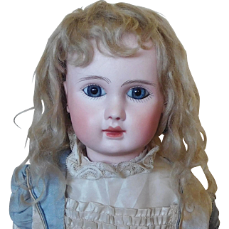 Lovely Antique Blond Mohair Doll Wig