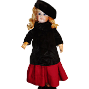 Nice Early Black Fur Fashion Doll Coat and Hat