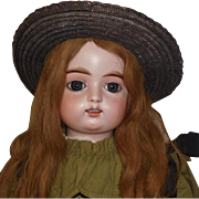Fabulous Antique Straw Hat, Large Doll