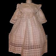 Beautiful Antique White Doll Dress