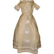 Lovely Antique Silk Gown, Large French Fashion Doll