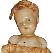 Sweet Little Antique Wax Baby, Needs Tons of TLC, Possible Creche