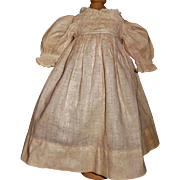 Fabulous Antique Pink Calico Cotton Doll Dress