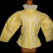 Fantastic Yellow Cotton Antique Doll Blouse