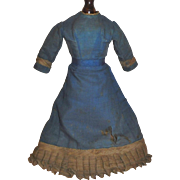 Early Antique Silk Doll Dress, China, Fashion