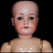 "Pretty Antique German Bisque 21"" CM Bergmann Doll, Needs TLC"