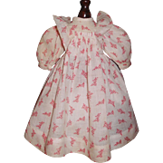 Sweet Antique Red and White Doll Dress