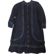 Antique Girls Navy Blue Wool Dress