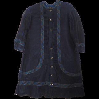 Antique Girls Navy Blue Wool Dress