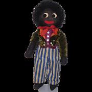 """Early Black 20"""" Golliwog Cloth Doll"""