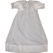 Pretty White Early Batiste Doll Gown