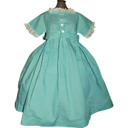 Nice Vintage Doll Dress, Lace Trim