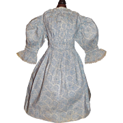 Fabulous Antique Calico Doll Dress