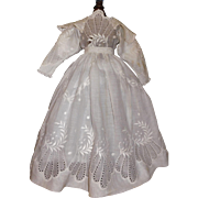 Pretty Eyelet and Embroidered White Fashion Dress
