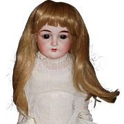 Pretty Synthetic Blonde Doll Wig