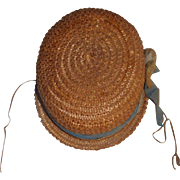 Antique ca late 1880 Straw Hat, Damage