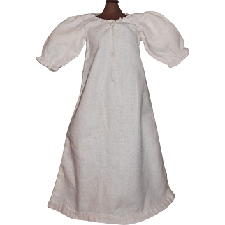 Nice White Flannel Early Doll Gown