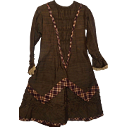 Wonderful Antique Girl's Dress, Ca 1880,