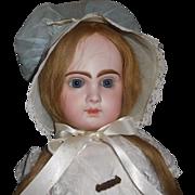 Lovely Vintage Blue Organdy Doll Bonnet