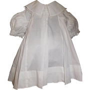Sweet Early White Cotton Doll Dress