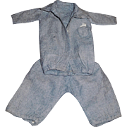 Cute Early Flannel Small Boy Doll Suit