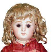 Beautiful Antique Blond Mohair Doll Wig
