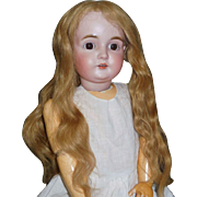 Pretty Dark Blond Antique Human Hair Doll Wig