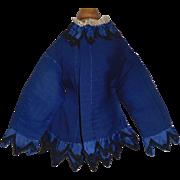 Pretty Early Dark Blue Fashion Doll Silk Jacket