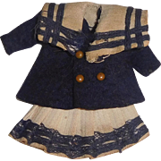 Tiny Tiny Early Vintage Mariner Doll Suit, Small All Bisque