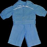 Cute Vintage Boy Doll Blue Sailor Suit