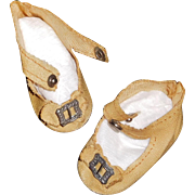 Nice Pair of Oil Cloth Doll Shoes