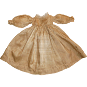 Brown Silk Antique Doll Dress