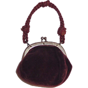 Nice Early Velvet Doll Purse