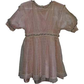 Lovely Antque Doll Dress, French or German
