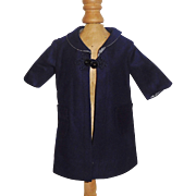 Nice Early Blue Wool Doll Coat