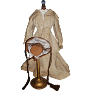 Wonderful Antique Fashion Wool Suit, Blouse and Hat