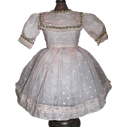 Lovely Pink Organdy Doll Dress, Kestner, Handwerck