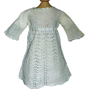 Sweet Early Soft Wool Doll Dress w Petticoat