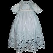 Wonderful Antique Eyelet Doll Dress