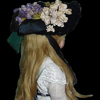 Fabulous Antique Doll Bonnet