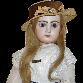 Lovely Antique Soft Straw Doll Bonnet