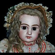 Wonderful Antique Woven Straw Bonnet