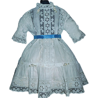 Fabulous Antique Doll Dress, French or German