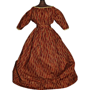 Wonderful Early Doll Dress. Papier Mache, Cloth, China