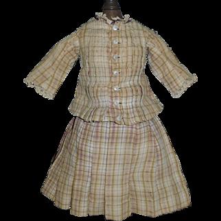 Antique Wool Doll Suit w Damage