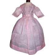 Vintage Pink Organdy Doll Dress