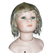 Nice Antique Blond Mohair Doll Wig, TLC
