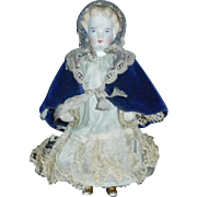 """Sweet Little 5"""" Parian All Bisque Doll"""